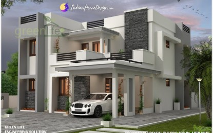 2230 sq ft 4 Bhk Moderne Modern Indian Home Design von Green Life