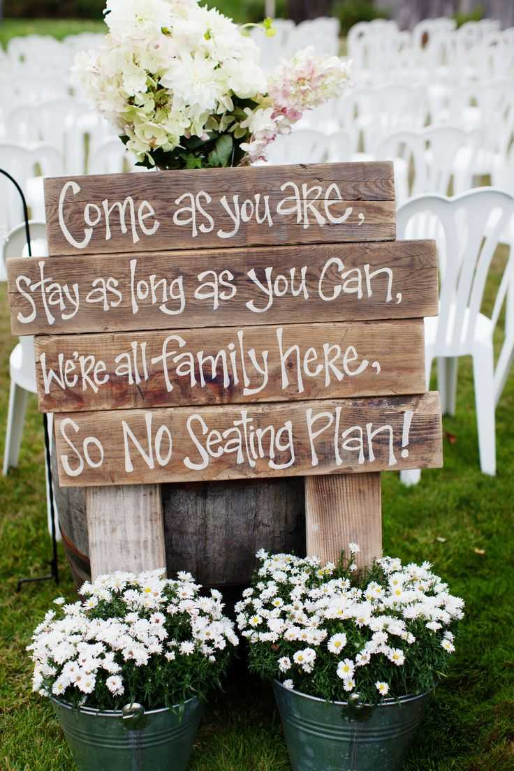 Lovely Rustic Trauung Sign