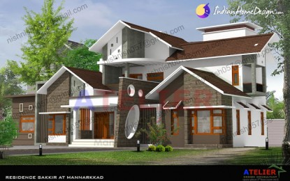 Modern Style Kerala Home Design in 2380 sq ft