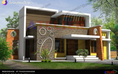 Einzelboden Contemporary Indian Home Design in 1350 qm von Aetlier Design-Berater